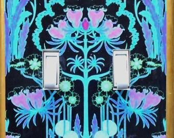 Art Nouveau COOL TONES- Will Morris Art Nouveau wall Art Deco William Morris wallpaper blue green turquoise switchplate