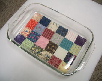 Scrappy Patchwork Large Oversize Hot Pad for Casserole, Insulated, Heat Resistant, Quilted, Trivets, Housewarming, Shower Gift