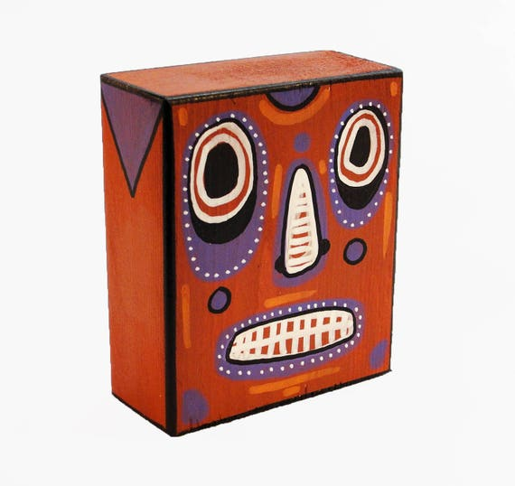 Funk Totem Part No. 267 - Original Mixed Media Block - Vol. 12