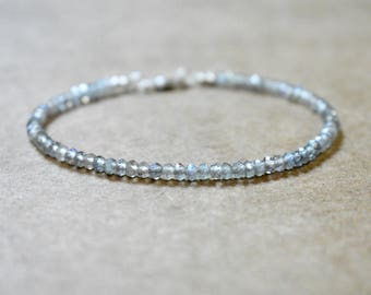 labradorite beaded bracelet. flashy labradorite thin bracelet. elegant labradorite gemstone bracelet. labradorite layering bracelet