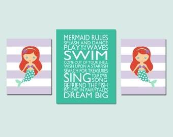 Little mermaid decor   Etsy