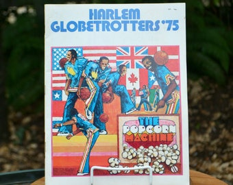 Vintage 1975 Harlem Globetrotters Yearbook