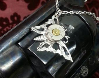 Emmy Butterfly 38 Special Bullet Jewelry Bullet Necklace
