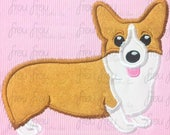 "Corgi Dog Digital Embroidery Design Machine Applique 4""-16"""