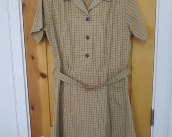Vintage 60s plaid school uniform dress / Size 18 / COSPLAY / Plaid School uniform dress /  Halloween Costume / School Dress /