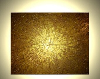 Gold Abstract  Original Painting Sale 22% Off