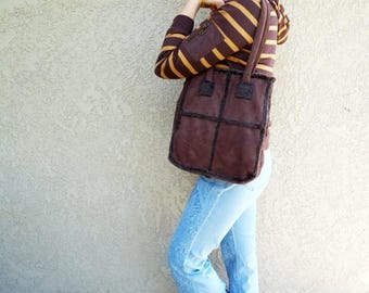 Suede bag Brown Slouchy Shoulder Hobo Bag