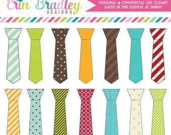 80% OFF SALE Tie Clipart, Commercial Use Digital Clip Art Graphics, Fathers Day Clipart
