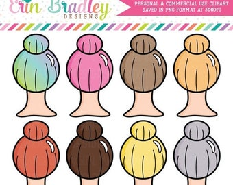 80% OFF SALE Girl Boss Clipart Top Knot Hair Clipart Graphics Beauty Clip Art Personal & Commercial Use OK