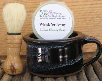 Natural Shave Set in Twilight with Handmade Brush