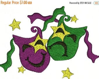 SALE 65% OFF Mardi Gras Party Parade Festival Machine Embroidery Designs Instant Download Sale