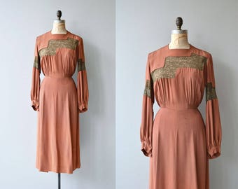 Georgia Clay dress | vintage 1940s dress | rayon 40s dress