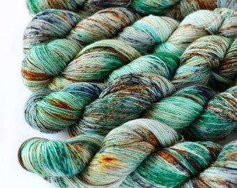 Merle 463 yards on 'Posh' Sock Yarn/ 4 ply merino, hand painted sprinkle