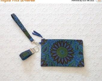 Celebrate8K Boho Handprinted Floral Indonesian Clutch Wristlet Handbag