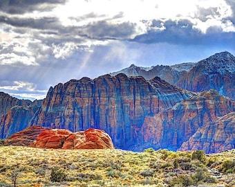 30 X 40 Sunlight in Snow Canyon Utah.