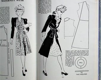 Vintage 1940s Sewing Book The Pictorial Guide to Modern Home Needlecraft Make Do and Mend 40s dressmaking patterns lingerie WW2 WWII style