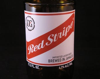 YAVA Glass - Recycled Red Stripe Beer Bottle Glass