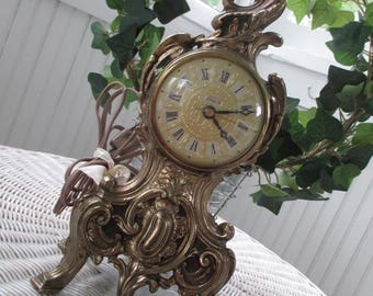Vintage Clock * Louis XV * Hollywood Regency * Mid Century * Electric
