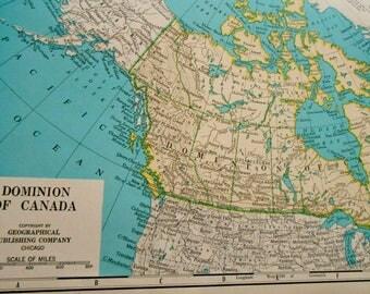 Canada Map Vintage Etsy CA - Canada maps