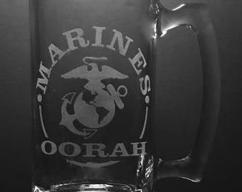 25 Ounce United States Marines Beer Mug