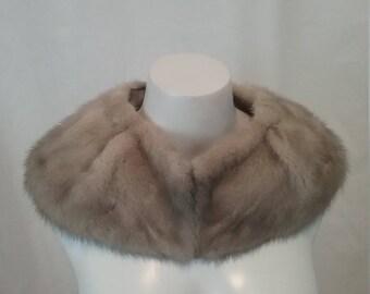 Silver Grey Mink Collar c67