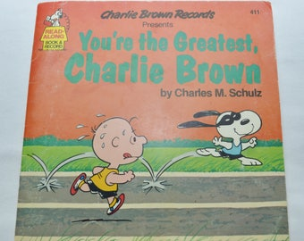 Vintage Charlie Brown You're the Greatest Charlie Brown Storybook Record 1980 7 inch