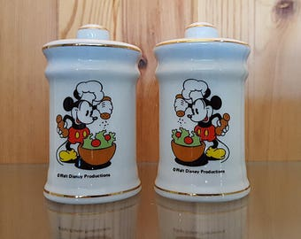 Mickey Mouse Salt and Pepper Shakers Vintage 1960's