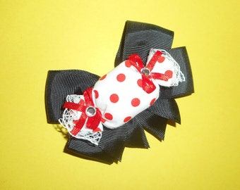 Black Candy Bow Barrette