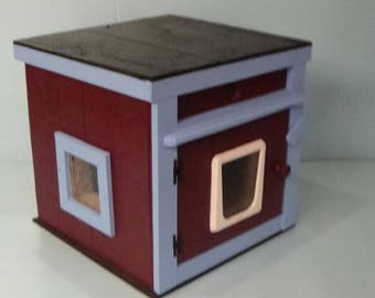 LARGE heated  CAT HOUSE /dual heat(Ships Next Bus. day), bed, shelter, sanctuary