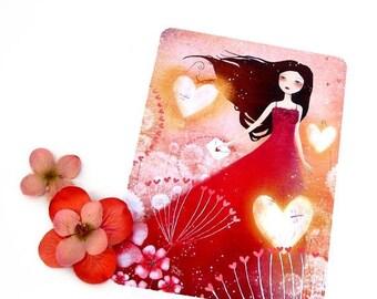 30% Off - Summer SALE Heart Lanterns - Postcard