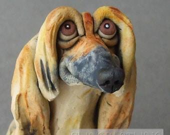 Ceramic Afghan Dog Sculpture