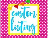 Luau Party - Custom listing for Juana - June 25