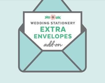 extra envelopes, wedding invitation add-on, euro envelopes