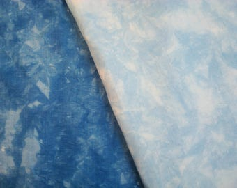 Blue Embroidery Linen 54 count, Hemp Fabric Cumulus