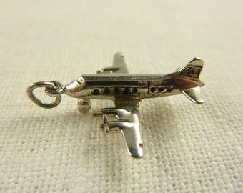 Vintage Wells Sterling Airplane Charm