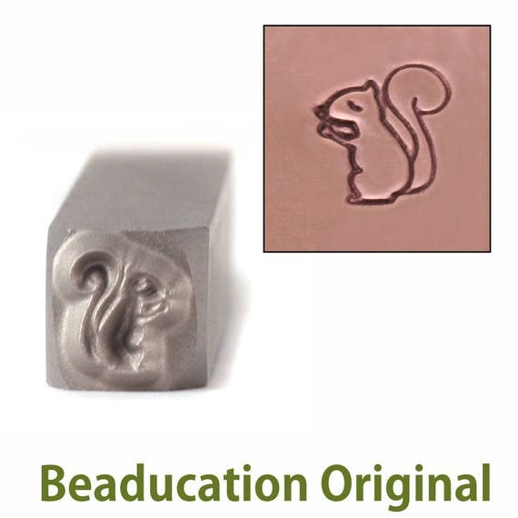 Squirrel Metal Design Stamp 5mm wide by 6mm high - Beaducation Original