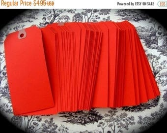 ONSALE 1 Dozen Large reinforced Red Hang/Shipping Tags