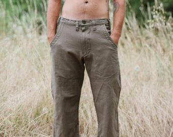Custom listing for Evan Purcell/Hawthorn Pants/Hemp and Organic Cotton Work Pant