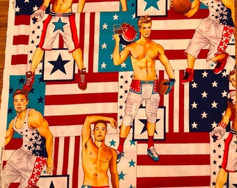 Alexander Henry All American Hunks Premium Cotton Fabric by the yard