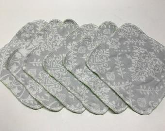 MamaBear Reusable Cloth Towelettes (Unpaper) Set of 6 - Soft Romance