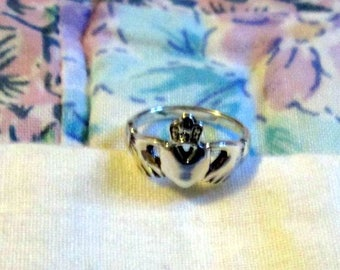 RING - Knuckle - Baby -CELTIC - CLADDAGH - Sterling Silver -  925 - Size 1  baby17