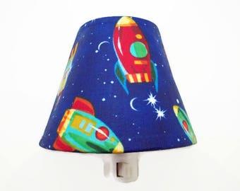 Rockets Night Light - Space Night Light- Boys Night Light - Blue Light - Outer Space Decor - Rocketship Night Light - Boys Room Decor