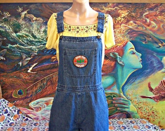 Overalls, Overalls shorts, Denim overalls, Shortalls, Patched overalls, Save the Planet, Eco, Environment