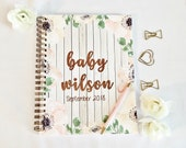 Pregnancy planner, personalized pregnancy journal, pregnancy milestone tracker, baby on the way, mom to be gift, baby journal