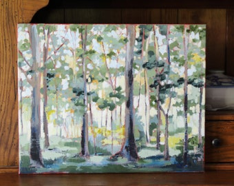 Through The Woods And Forest Glades I Wander-16x20 Canvas