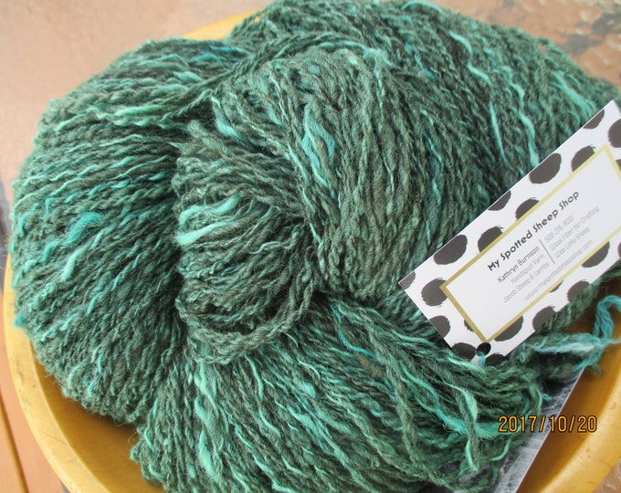 Mermaid Green Hand-Spun , Hand-Dyed Yarn
