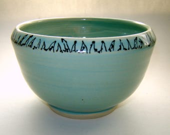 Ceramic Serving Bowl – Turquoise Tableware – soup or salad - Handmade Pottery – Stoneware Bowl – Kitchen Décor – Home and Living