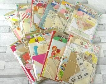 Junk Journal Envelope Tag Bundle with Handmade Vintage Paper Envelopes for Scrapbooking Smash Books Planner And Mini Album Inserts 20pcs