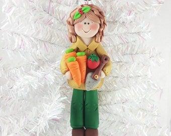Gardener Christmas Ornament - Gift for Gardener - Gardening Ornament - Clay Christmas Ornament - Personalized Christmas Ornament - 61010