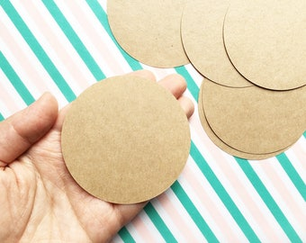 circle blank stickers. handmade kraft label stickers. diy birthday christmas gift wrapping. packaging tags. 7cm ( 2.75in ). set of 30